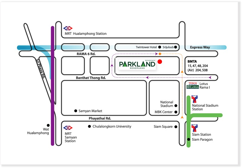 Map Parkland rongmuang residence